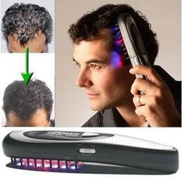 Wholesale Laser Hair Grow - Power Grow Laser Comb Kit Regrow Hair Loss Therapy Cure Hair Loss Laser Treatment Comb CCA6334 100pcs