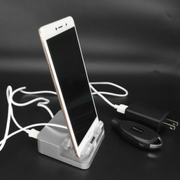 Wholesale Cell Phone Holder Alarm - Vertical Acrylic Mobile Phone Holder Cell Phone Alarm sistem Cellphone Store Anti-theft for Huawei OPPO Iphone Vivo Xiaomi