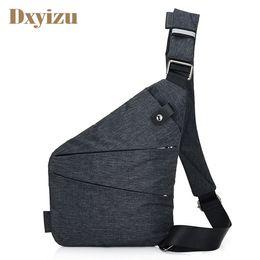 Wholesale Male Shoulder Cross Body Bag - Casual Mens Shoulder Bag Burglarproof Travel Chest Pack Male Messenger Bag Multifunctional Men's Crossbody Bags Nylon Sling Bag