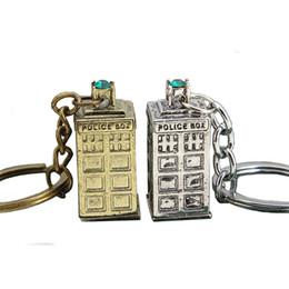 Wholesale Police Key Chain - DW Doctor who Tardis Police Box Keychain key rings keyrings bags hang Pendants Key Chains for men women fashion jewelry 170375
