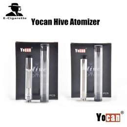 Wholesale Vaporizer Clearomizer - Authentic Yocan Hive Atomizer Wax Vaporizer 1.8ohm 1.0ohm for Wax 1.6ml Capacity Plastic Tube Packed Clearomizer VS Cloupor M3 M4