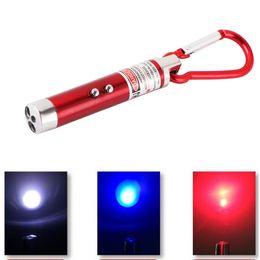Wholesale Mini Led Keychain Light Red - LED Key Chain Flashlight Mini Flashlights 3 in1 LED Laser Light Pointer Mini Torch Flashlight Keychain Money Detector Light