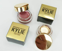 Wholesale Single Eye Shadows - Kylie Jenner birthday Edition eyeshadow cream Cosmetics eye shadow Kyshadow eyebrow naked makeup Long-lasting Copper + Rose gold