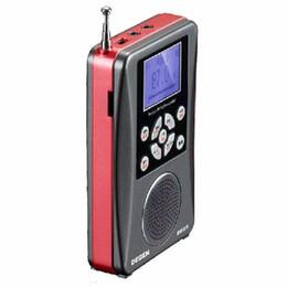 Wholesale Degen Sw Radio - Wholesale-original Degen Radio FM MW SW DE-28 Full-Band Short Wave receiver portable radio Support Large-Size LED Backlit Dot freeshipping