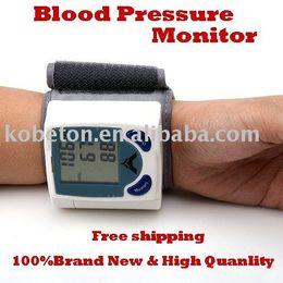 Wholesale Digital Blood Monitors - Portable Home Digital Wrist Blood Pressure Monitor Heart Beat Meter Sphygmomanometer with LCD Display