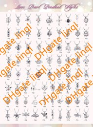Wholesale 75 Styles For Choose kgp Fashion love wish pearl gem beads locket cages Pendants DIY Pearl Necklace charm pendants mountings