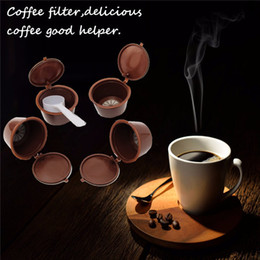 Wholesale wholesale reusable plastic cups - Food Grade Plastic Reusable Coffee Capsules For Dolce Gusto Refillable Refill Brewers Nescafe Cup Coffee Filter