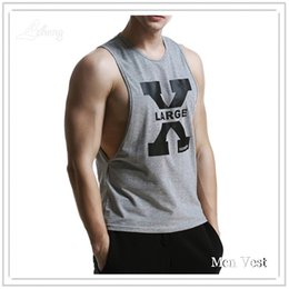 Wholesale Singlet Tshirts - Wholesale- Men Tank Top Singlets Stringers Sleeveless Top Tees Shirts Cotton Hip Hop Brand Tshirts Mens Gasp Tank Shirt Muscle Casual Vest