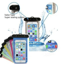 Wholesale Underwater Phones - 5.7'' Universal Waterproof Mobile Phone Bag Case Clear PVC Sealed Underwater Cell Smart Phone Dry Pouch Cell Phone Cases CCA6705 100pcs