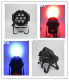Wholesale Mini Led Par Can - 6Xlot Indoor dmx stage led mini par can 7x15w led par 5 in 1 rgbaw led par can light