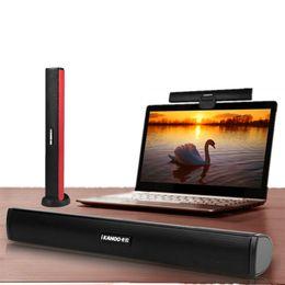 Wholesale usb computer sound bar - Wholesale- Ikanoo Brand Usb Laptop Portable computer pc Speaker Audio Soundbar mini USB laptop portable speakers Sound Bar Speakers to pc