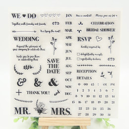 Wholesale Wholesale Date Stamps - Wholesale- 1 sheet DIY The Date Design Transparent Clear Rubber Stamp Seal Paper Craft Scrapbooking Decoration