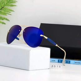 Wholesale Men Reflective Sunglasses - Italy Men Polarize Aviator Sunglasses Vintage Brand Designer Reflective Mirror Lens Retro Sunglasses 100% UV Protection With Case