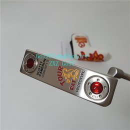 Wholesale Iron Man Silver - CONCEPT2 TOUR Silver RAT PROTOTYPE Red Circle T Golf Putter 33inch 34inch 35inch Golf Club Drivers Fairway Wood Iron Wedges Putts Bag