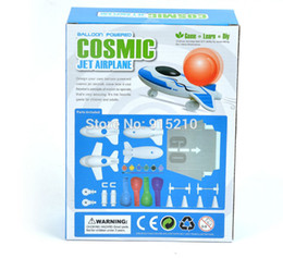Wholesale Airplane Model Puzzle - Wholesale- Scale Model kits Montessori Materials Cosmic Balloon Powered Jet Airplane Puzzle Diy Kit Montessori Educational Toy