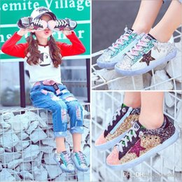 Wholesale Kids Girls Boots - Kids Shoes 2017 New Fashion Kid Children Baby's Girls Sport Shoes Baby Sequins Shoes Children's Sneakers Boots white black Gold 21