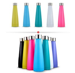 Wholesale Cheapest Stainless Steel Bottles - CHEAPEST!!! new sip cola water bottle Vacuum Insulated Stainless Steel Water flask Double Wall 15 oz without logo