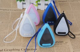 Wholesale Car Shaped Music - New Arrival water drop shape portable Mini Bluetooth speakers colorful Led Bluetooth wireless Music Player Car mobile phone Speaker mini DHL