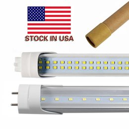 Wholesale T8 4ft Led Tube - Stock in US + 4ft led tube 22W 25W 28W Warm Cool White 1200mm 4ft SMD2835 192pcs Super Bright Led Fluorescent Bulbs AC85-265V UL