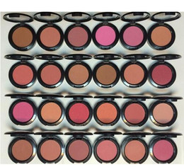 Wholesale Face Blusher - Best Face Makeup Blush Shimmer Blusher 24 Different Colors 6g Free Shipping 6pcs lot (random send mixed color )