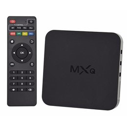 Mxq android tv box update online-EE.UU. Reino Unido Stock actualización en línea MXQ MXG MXS TV BOX Amlogic S805 Quad Core Android 4.4.2 Airplay Programas Reproductor de medios 5pcs