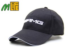 Wholesale Golf Cool - Good Quality    AMG Embroidery F1 Racing Team Cotton Baseball Cap Fashion Men Women Adjustable Golf Cap Sun Trucker Hat