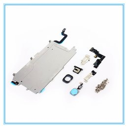 Wholesale screws for iphone - Front Camera Home Button Flex Ear Pieces Screw Sets Metal Plate Bezel For iPhone 5 5s 5c 6 6S 7 7 Plus LCD Display Touch Screen Digitizer