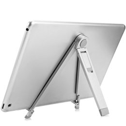 Wholesale Tablet Easy - Original HOCO Aluminum Alloy Holder Stand For Tablet PC Adjustable and Easy Carry Mobile Phone Stents Tablet Bracket