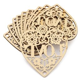 Wholesale Wood Craft Shapes - Wholesale- Modern DIY 10pcs Laser Cut Decorative Heart Unfinished Wooden Shapes Craft Embellishments Wood Craft Home Decor