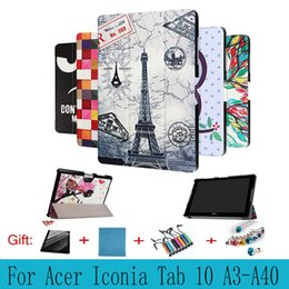 Wholesale Cover Tablet Acer Inch - For Acer Iconia Tab 10 A3-A40 A3 A40 10.1 inch Tablet Case Colorful Custer Ultra Slim PU Leather Print Flip Protect Cover