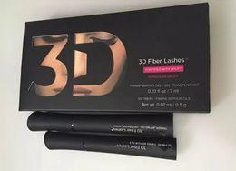 Wholesale Eyelash Dryer - New 3D Fiber Lashes 1030 version Waterproof Double Mascara 3D FIBER LASHES Set Makeup Eyelash DHL Free