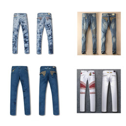 Wholesale Acrylics Paints - 2017 real photos free shipping men calssic fashion Robin rock jeans men casual lnk Wing jean Locomotive storehouse