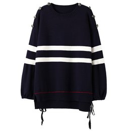 Wholesale Bow Types - 2017 autumn and winter Europe and America new type large code set head coat loose sweater
