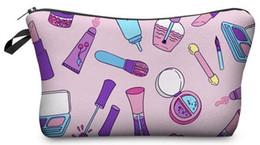 Wholesale Animal Print Storage - Newest color 20pc 3D print Cosmetic Makeup Bags Pencil caseTravel Bags brush box organizer storage toiletry clutch pouch cartoon,emoji