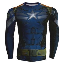 Wholesale Marvel Sweatshirt Top - Wholesale-Marvel 3D sweatshirt Superhero Long Sleeve Amour Compression basic Fitness 3d hoodies clothing Cool man tops crewneck sudaderas