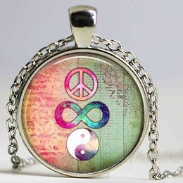 Wholesale Cross Signed - Peace Sign Jewelry, Peace Sign Necklace, Infinity Jewelry, Infinity Cross Necklace, Boho Jewelry, Bohemian Necklace