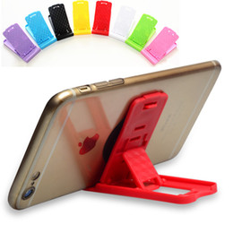 Wholesale Foldable Portable Table - New Portable Foldable Table Mini Plastic Cell phone Stand Holder Folding Adjustable Phone Bracket Support for iphone Samsung ipad Universal