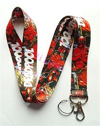 Wholesale deadpool marvel heroes - Free Shipping 30 Pcs Marvel Comics Hero Deadpool Mobile Phone Neck Straps Neck Strap Keys Camera ID Card Lanyard