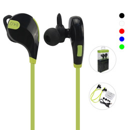 Wholesale Hot Sale Headphones - 2017 Hot Sale QY7 Bluetooth 4.1 Wireless Stereo Headphones Earphone Headset With Mic Retail Box 5 Colors