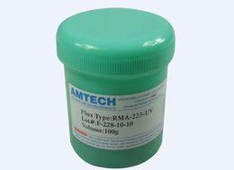 Wholesale Amtech Flux Clean - Whole salle low price Solder paste lead free no clean flux original Amtech RMA-223-UV 100g