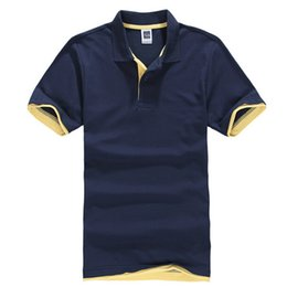 Новый мужская рубашка поло для мужчин поло Мужчины хлопок с коротким рукавом летние трикотажные изделия golftennis плюс размер XS-3XL от