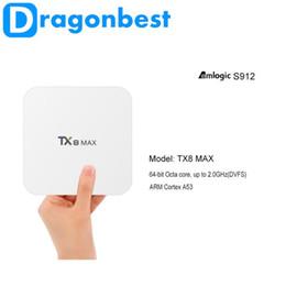 Wholesale Dvb S Tv Box - TX8 Max Amlogic S912 Android6.0 3G 16G Bluetooth BT4.1 Android TV BOX Amlogic S912 Octa core ARM Cortex-A53 CPU up to 2GHz