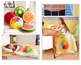 Wholesale Cooling Body Pillow - 3D Fruit Cushion Blanket pillow cushion Decorative Quilt home decor Car sofa Seat travel Bed Pillow sleeping pillow baby blanket 300699