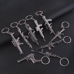 Wholesale Imitation Guns - Cross Fire Imitation Gun Mens Boys Metal Alloy Keychain Key Chain Keyring Car Keychains