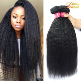 Wholesale Processed Peruvian Hair - 7A Brazilian Peruvian Malaysian Indian Human Hair Bundles Factory Brazilian Kinky Straight Hair Machine Double Weft Natural Color