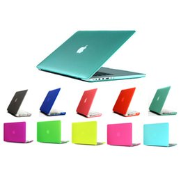 Wholesale Laptop Hard Shell Covers - Hard Matte Plastic Protective Case Cover for Macbook Air Pro Retina 11 12 13 15 inch Laptop Crystal Frosted Rubberized Cases Shell Durable