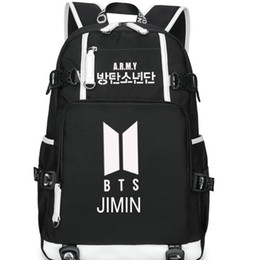 b3ae36349eff music backpacks Canada - Park Ji Min backpack Bts day pack Bangtan boys  school bag Music