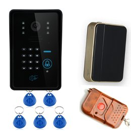 Wholesale Outdoor Keypad - Wireless Video Door Phone WiFi DoorBell IR Camera RFID Touch Keypad Card Reader+Remote Control For Intercom System WIFI006IDS