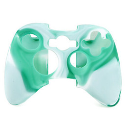 Wholesale free xbox covers - 50 Pieces LOT Soft Silicone Skin Case Cover for Xbox 360 Controller Silicone Protective Case for Xbox 360 Free   Drop Shipping