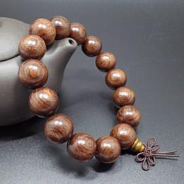 Wholesale Wood Beads 15mm - 15mm Natural Sandalwood Buddhist Buddha Wood Prayer Bead Bracelet Women Men Beaded Bracelets & Bangles Jewelry Bijoux 2017 New